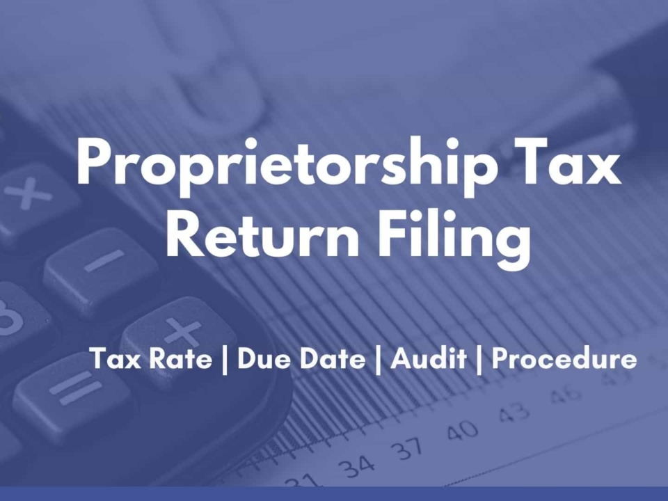 Proprietorship Tax Return Filing