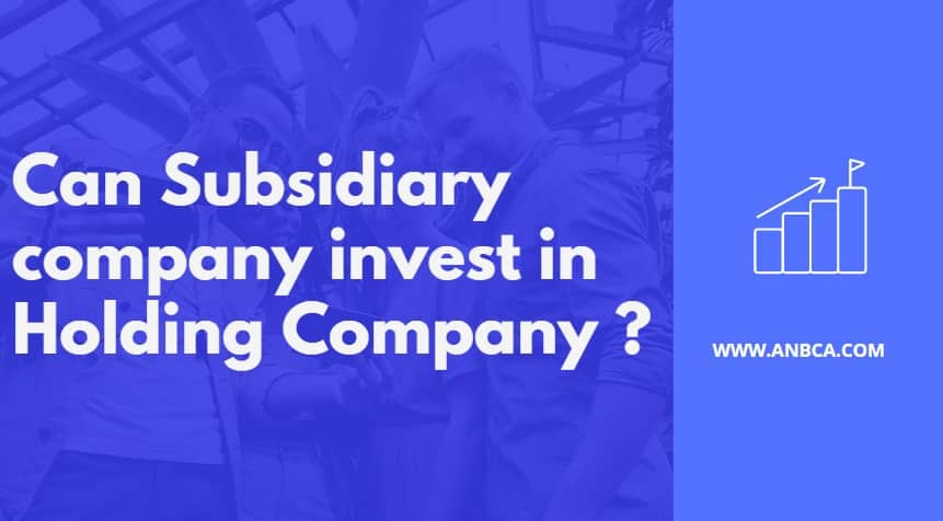 Can subsidiary company invest in Holding Company